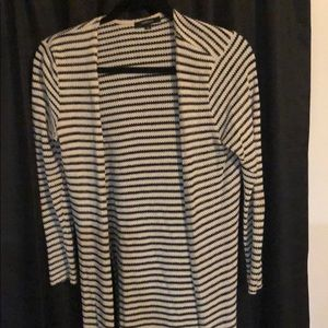 Black and white striped cardigan!